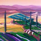 Toscana III - olej na płótnie 50 x 60