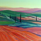 Toscana - olej na płotnie 50 x 60